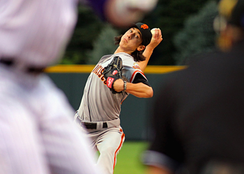 SF Giants pitcher Tim Lincecum