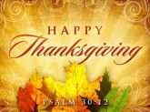 thanksgiving Psalm 30