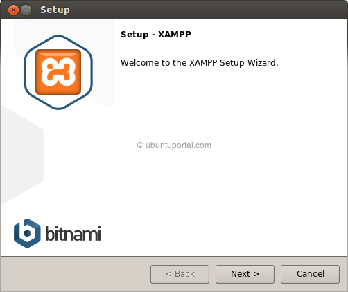 Installation wizard XAMPP 1