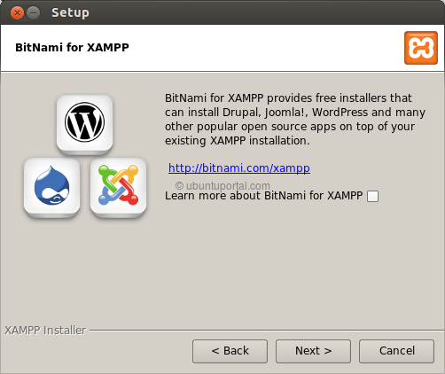 Installation wizard XAMPP 4