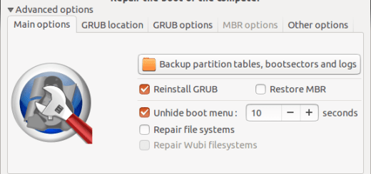 boot repair tool will added by default in ubuntu 14.04