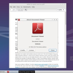 Lubuntu 14.10 - Document Viewer
