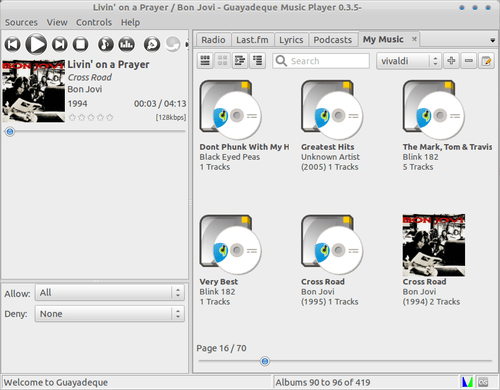 Album collections - Guayadeque Music Player 0.3.5