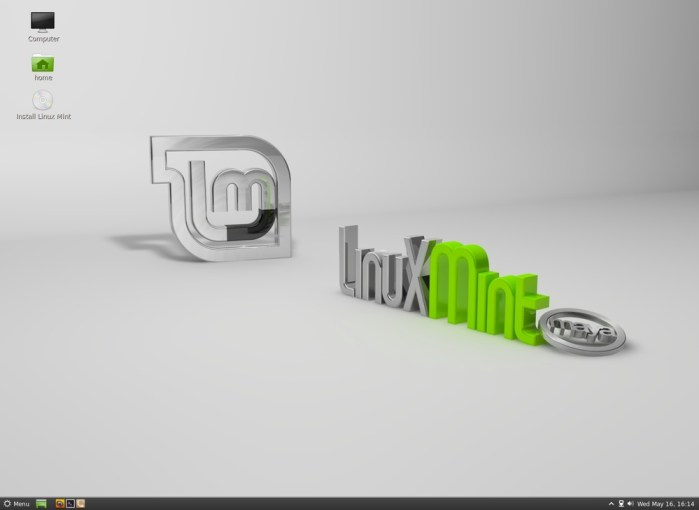 Linux Mint 13 LTS Maya - Cinnamon Desktop Environment