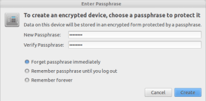 Step 4 - Easy Way to Encrypt USB Flash Drives on Ubuntu