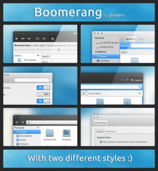 Theme Gnome Shell and Unity : Boomerang by ghogaru
