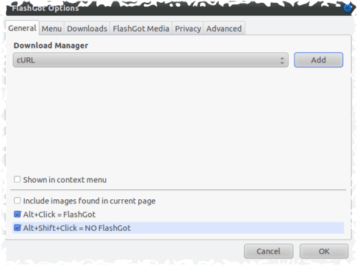 integrate prozgui with firefox-configure flashgot