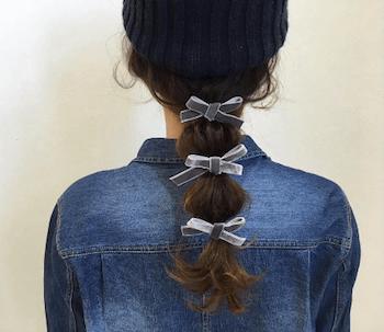 黒ニット帽×たまねぎヘアーのニット帽に合う髪型