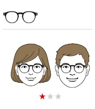 ●丸顔×丸メガネ