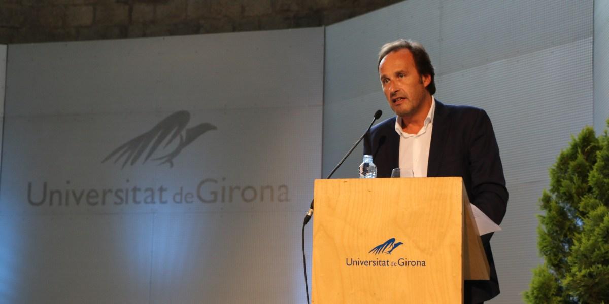 Intervenció del rector Sergi Bonet