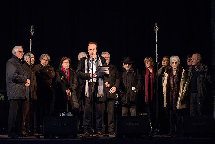 Parlament del rector Sergi Bonet en l'acte de commemoració dels 25 anys de la UdG (foto Harold Abellan)