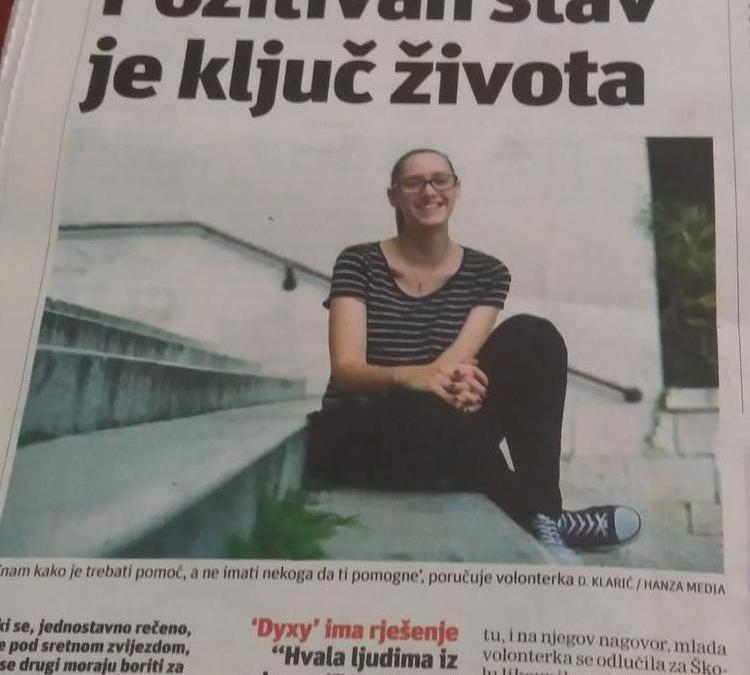 "Naša volonterka kandidat za ""Splitski pupoljak"""