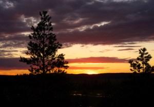 Karelien-Sonnenuntergang
