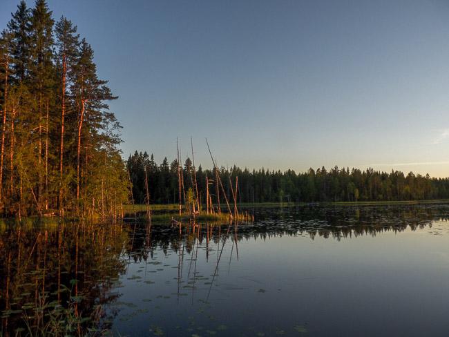 Sonnenuntergang Karelien