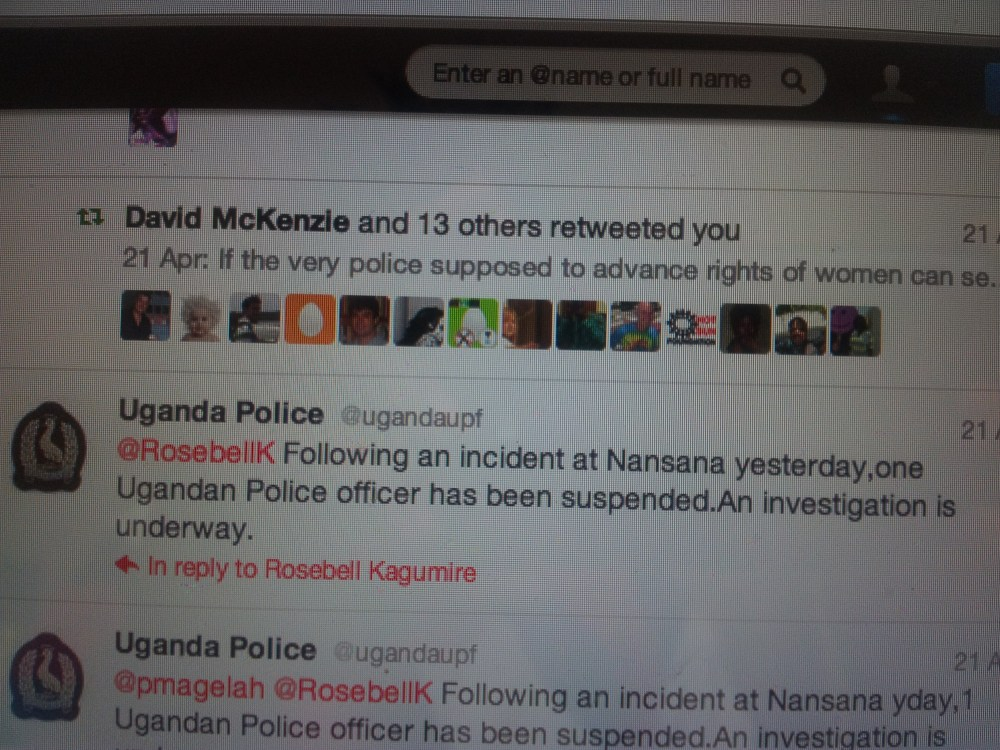 Uganda women protest topless against Police public groping of female politician (1/3)