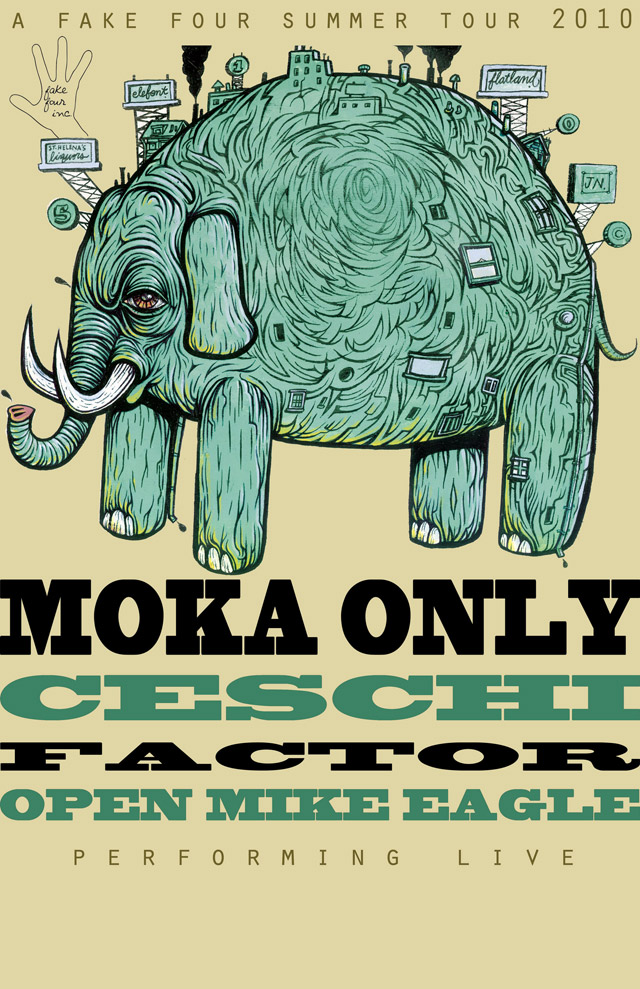 Four Summer Tour w/ Ceschi, Moka Only, Factor, and Open Mike Eagle