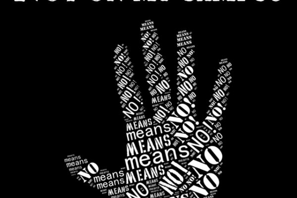 Graphic: The graphic is of a hand with the phrase