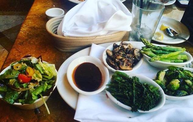 Indulging in a meal that is good for the body and soul.    Photo courtesy of Rena Wilson.