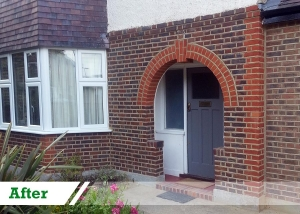 Brick Cleaning and restoration completed by UK Performance Restoration, London UK.