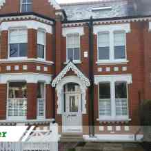 Brick cleaning and full restoration job for residential customer in Hackney completed by UK Performance Restoration.