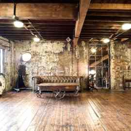 old brickwork studio interior