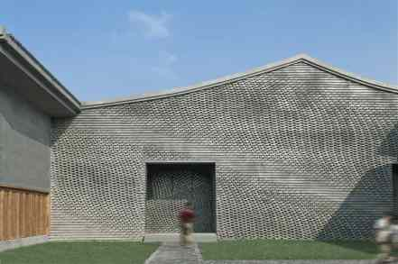 water styled and patterned brickwork