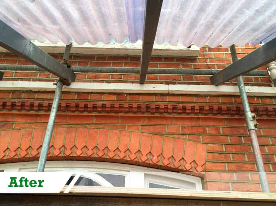 Brick repointing and brick restoration done for residential customer in Chelsea W8