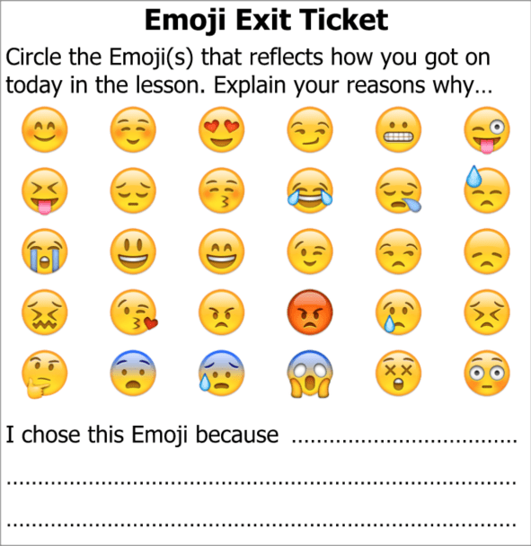 Exit Ticket Emoji