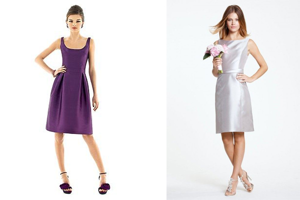 Mikado dresses from Alfred Sung and Watters
