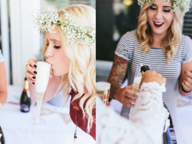 A Flower Crowns & Champagne Backyard Bridal Shower | Ultimate Bridesmaid | Dulcet Creative