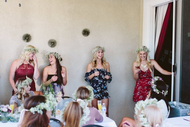 A Flower Crowns & Champagne Backyard Bridal Shower | Ultimate Bridesmaid | Dulcet Creative | Bridesmaids