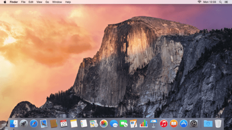 Yosemite's desktop. Image: Apple