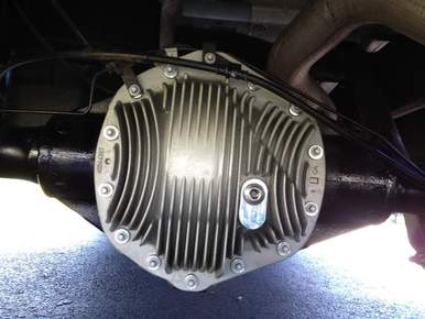 Rear Differential with upgraded aluminum cover - click here for how to avoid differential failures