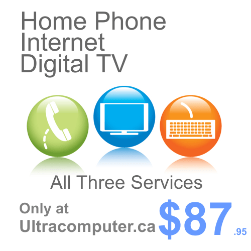 Home Phone, Internet & TV only $87.95- Limited Time