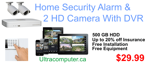 Home security alarm service with 2 HD security cameras $29.99/ Month