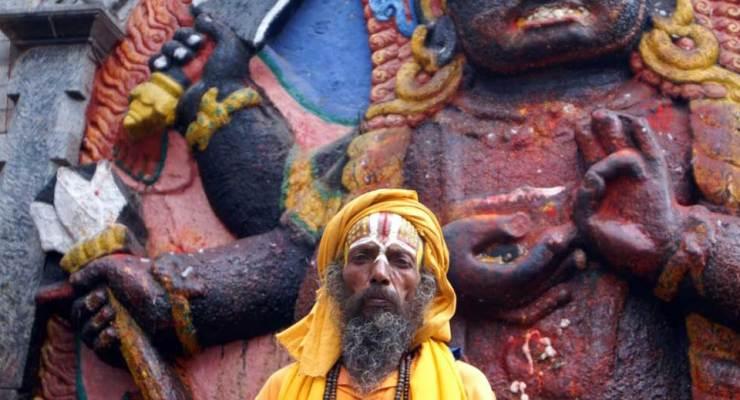 Sadhu, Nepal, Statue of Bhairava