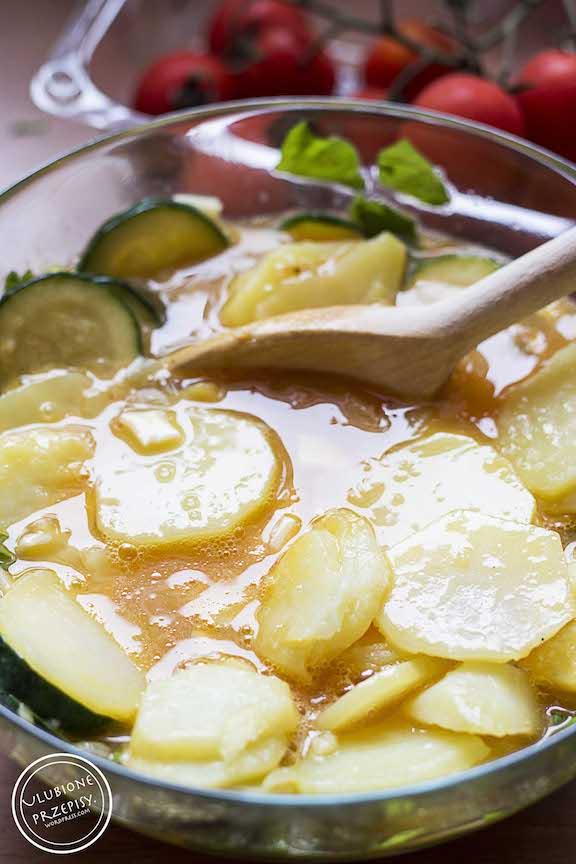 Frittata z cukinią i ziemniakami