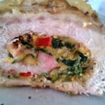 Autor - Dorota - Rolada schabowa faszerowana mięsem mielonym ze szpinakiem i papryką