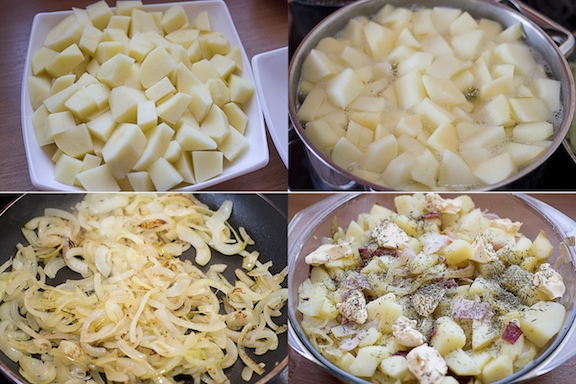 Zapiekanka ziemniaczana z jabłkami