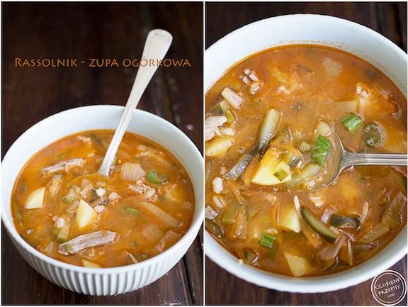 Rassolnik zupa ogórkowa z karkówką
