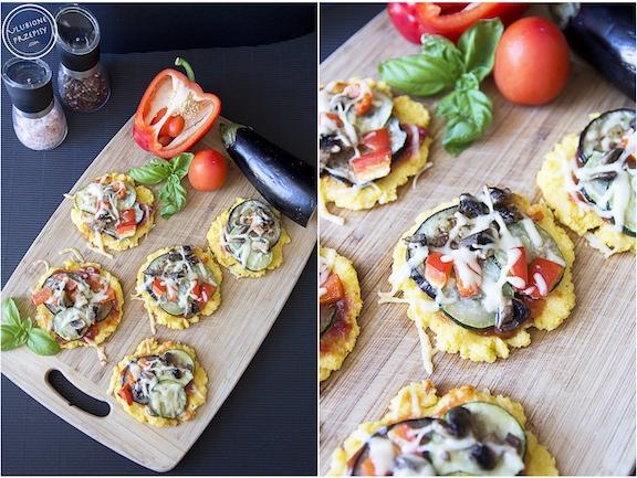 Zapiekana polenta z warzywami