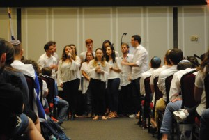 A cappella group Kol Sasson performs at Hillel's Yom HaZikaron ceremony May 1. Nicole Reisinger/Mitzpeh.