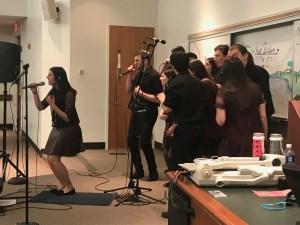 """Junior Daniela Nagar leads the group in Sarit Hadad's """"Mimi."""" Savannah Williams/Mitzpeh."""
