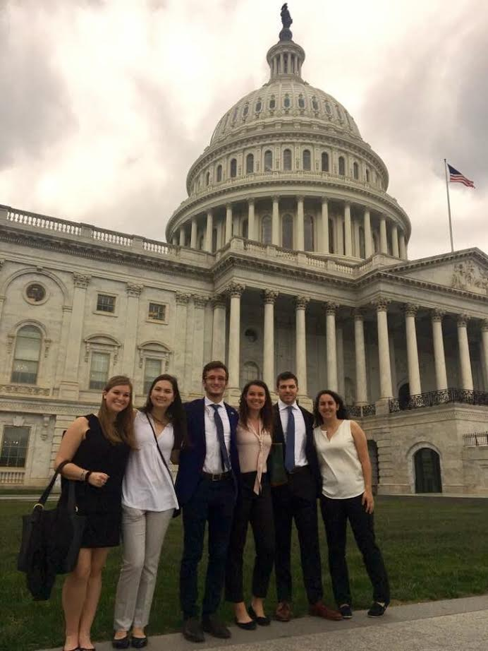 Maryland students join Terps for Israel to lobby Congress, Monday May 2. Photo courtesy of Jenn Miller.
