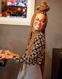 Hairspiration: Blond Box Braids & Twists Un-ruly