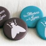 Chapas personalizadas con el diseño del blog