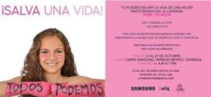 #PinkPower, fundación bella, cáncer de mamá, mastografía