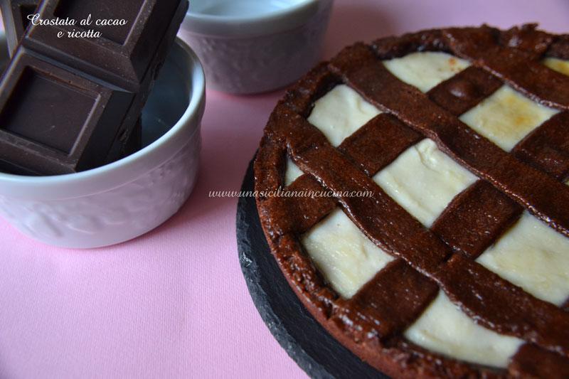 Crostata al cacao e ricotta