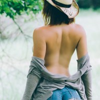 Cowgirl in a Joyous Mood
