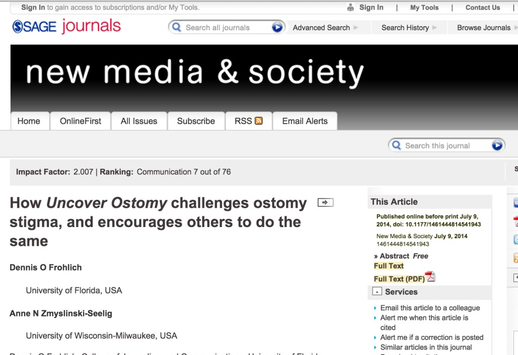Uncover Ostomy SAGE Journals 07-09-2014